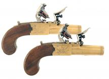 A Pair of Brass Framed Pocket Pistols