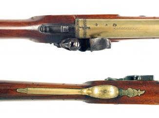 A Flintlock Blunderbuss by Hyham of Warrington