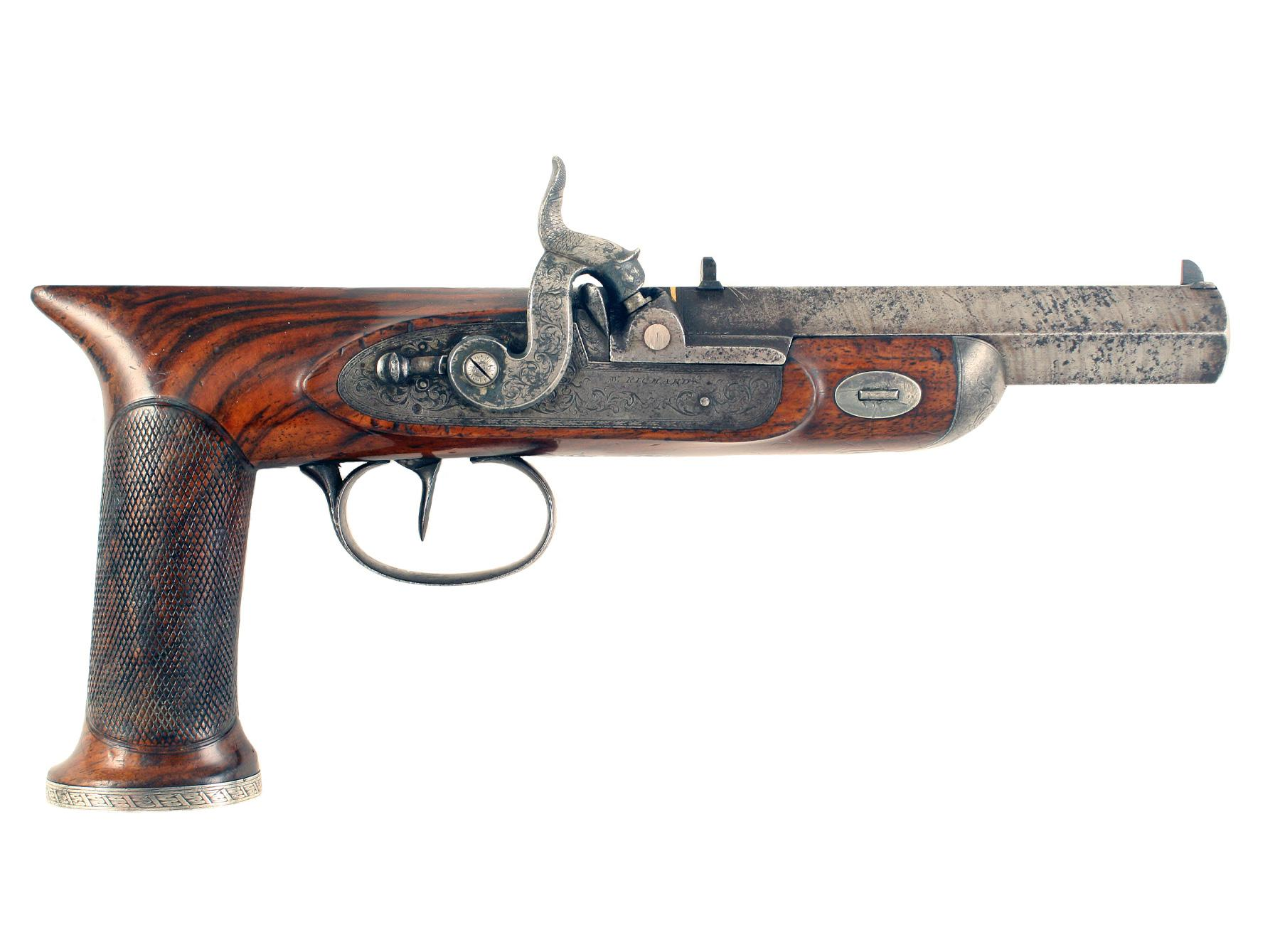 An Unusual Percussion Pistol by Westley Richards