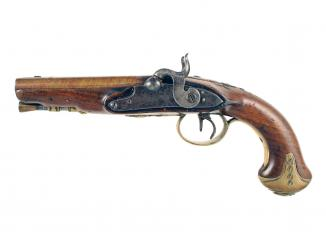 A Double Barrelled Percussion Pistol