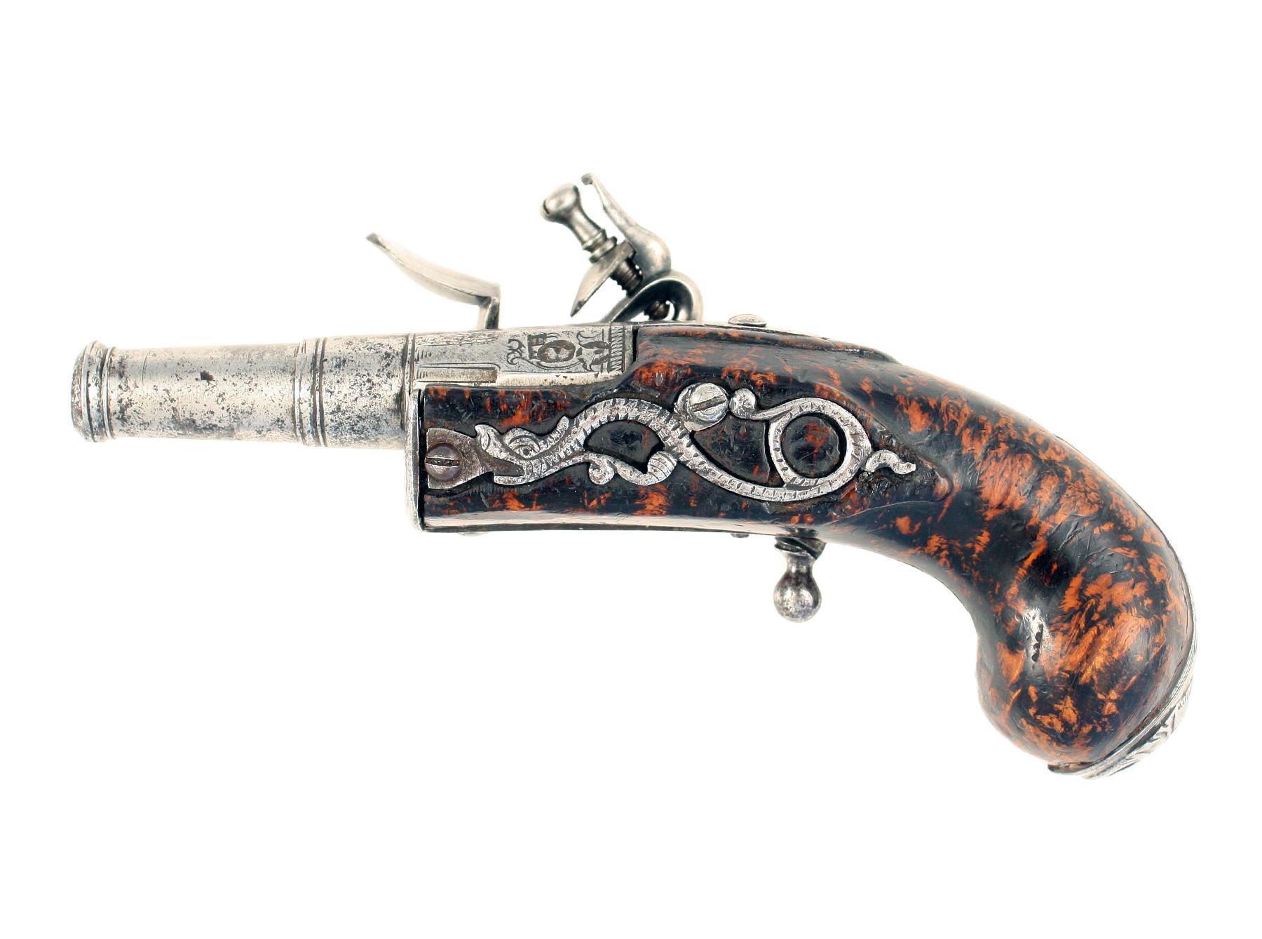 An Early Flintlock Pistol by Heasler