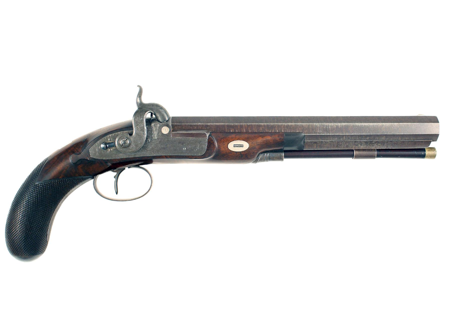 A Percussion Duelling Pistol by J. Manton & Son