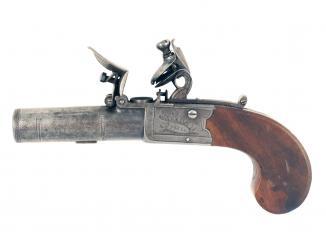A Crisp Pair of Flintlock Pocket Pistols