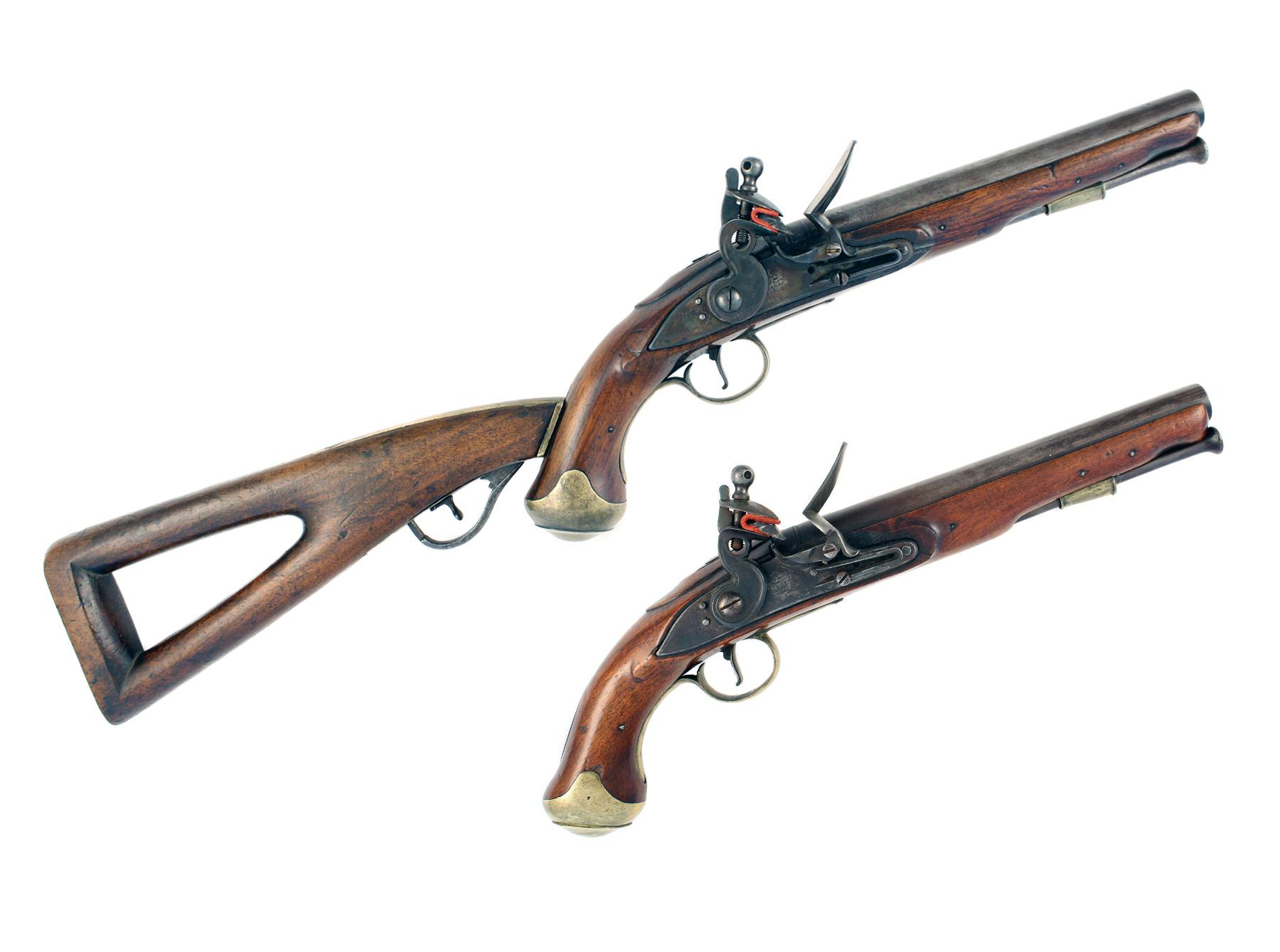 An Incredibly Rare Pair of Flintlock Light Dragoons
