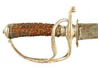 A Silver Hilted Hunting Hanger.