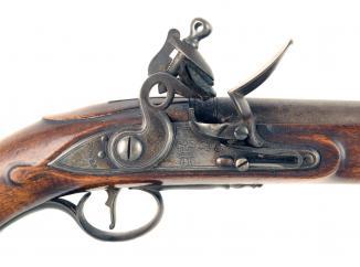 An Outstanding Unissued Flintlock Sea Service Pistol