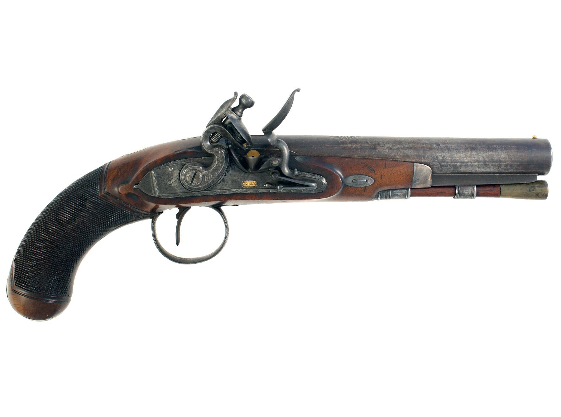 A Flintlock Pistol by Wallis of Hull