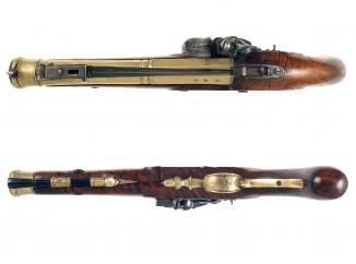 A Flintlock Blunderbuss Pistol by Twigg