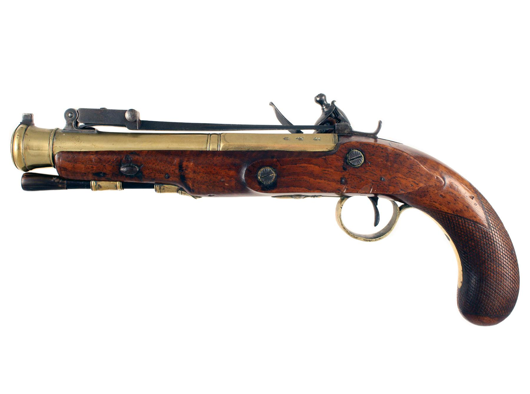 A Flintlock Blunderbuss Pistol by Twigg