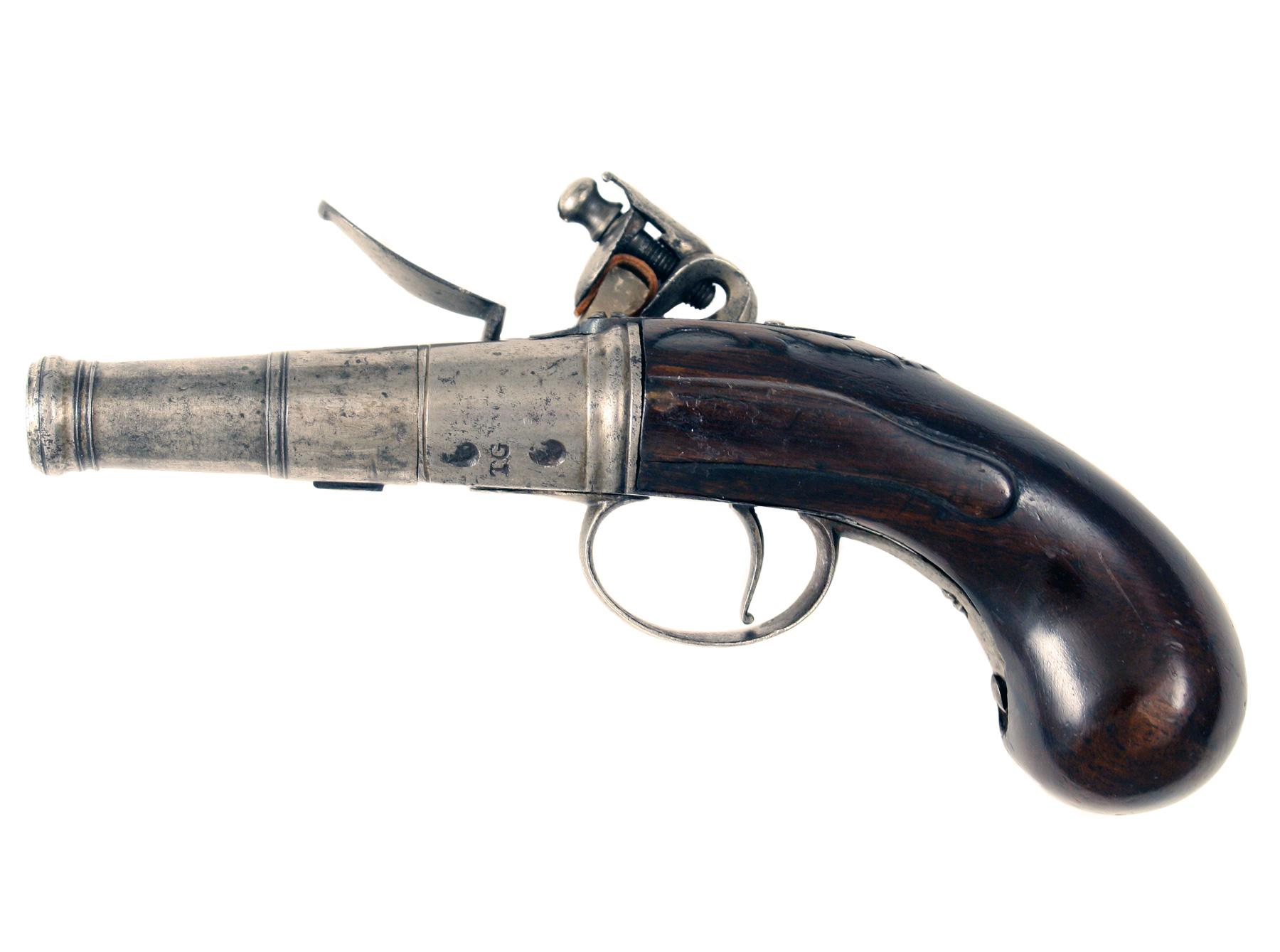 A Scarce Early Pistol by Gregory of London