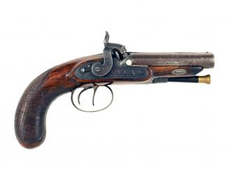 A Small Double Barrelled Pistol by Westley Richards