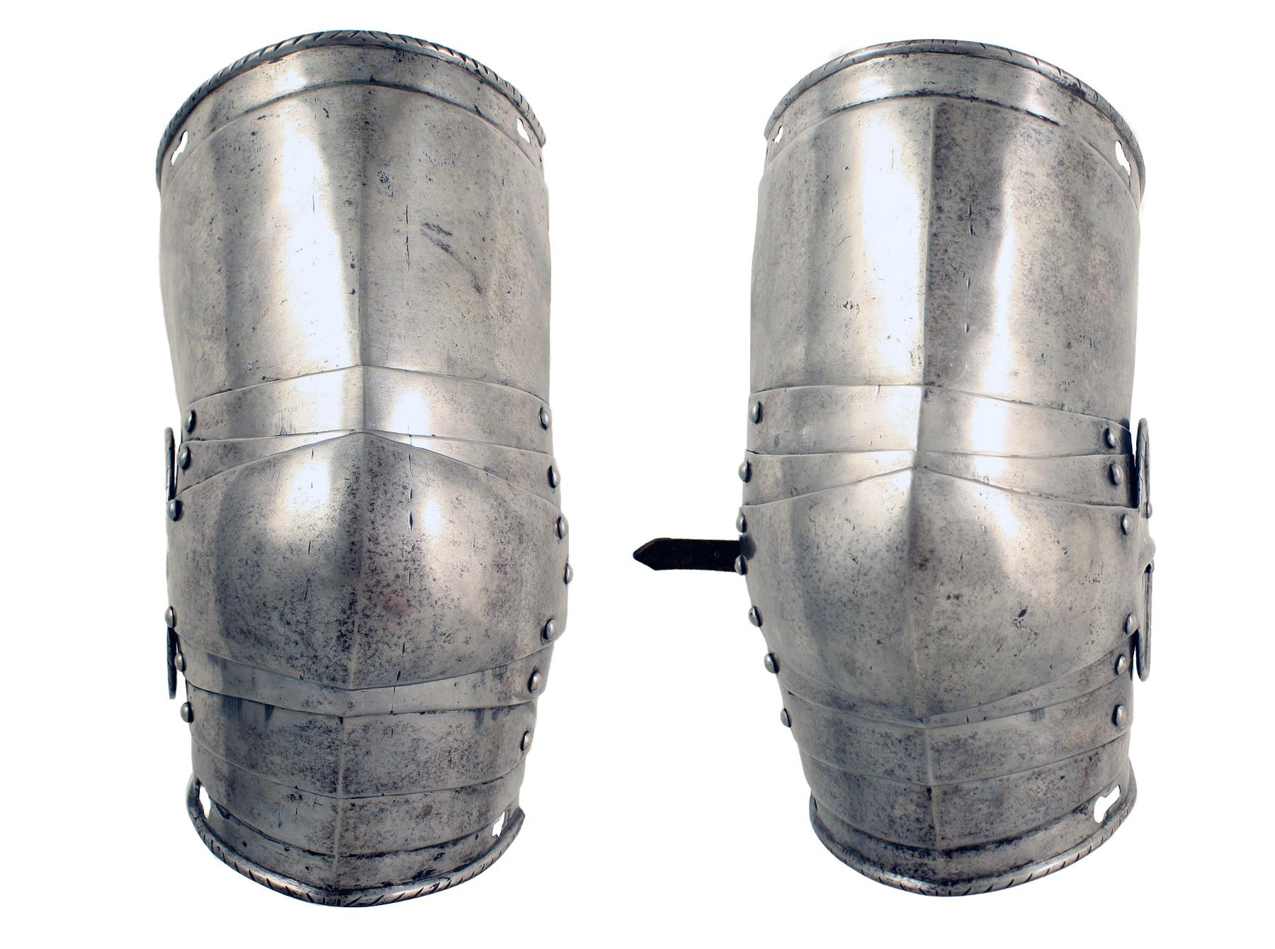 A Pair of Cuisses and Poleyns, 1560-70.