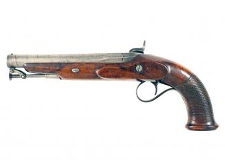 A Percussion Officers Pistol by Moore of London.
