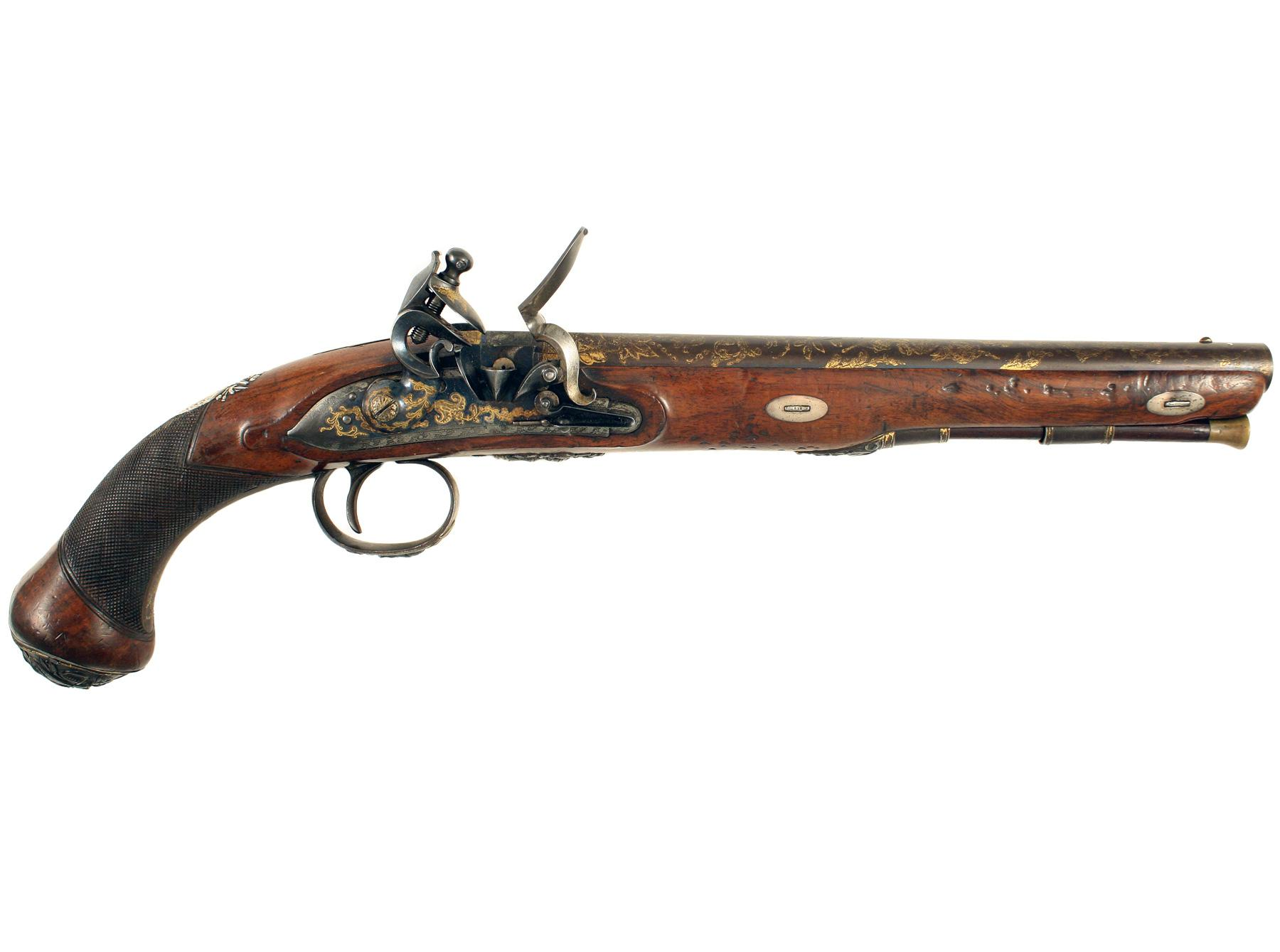 An Elaborate Flintlock Pistol