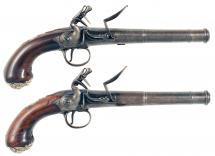 A Crisp Pair of Queen Anne Pistols