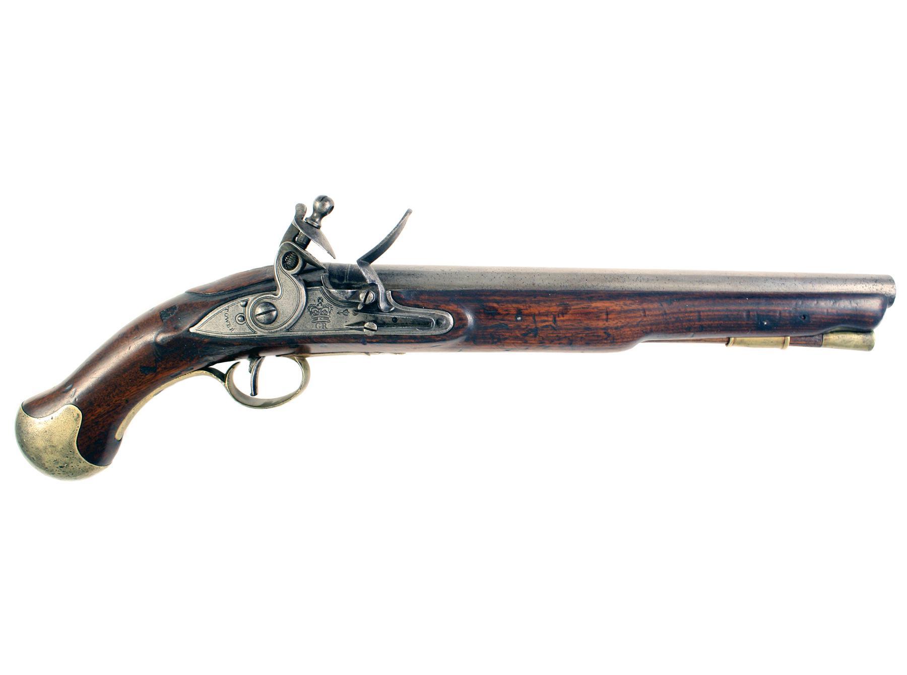 A Flintlock Long Sea Service Pistol