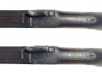 An Exceptionally Rare Cased Pair of Pistols