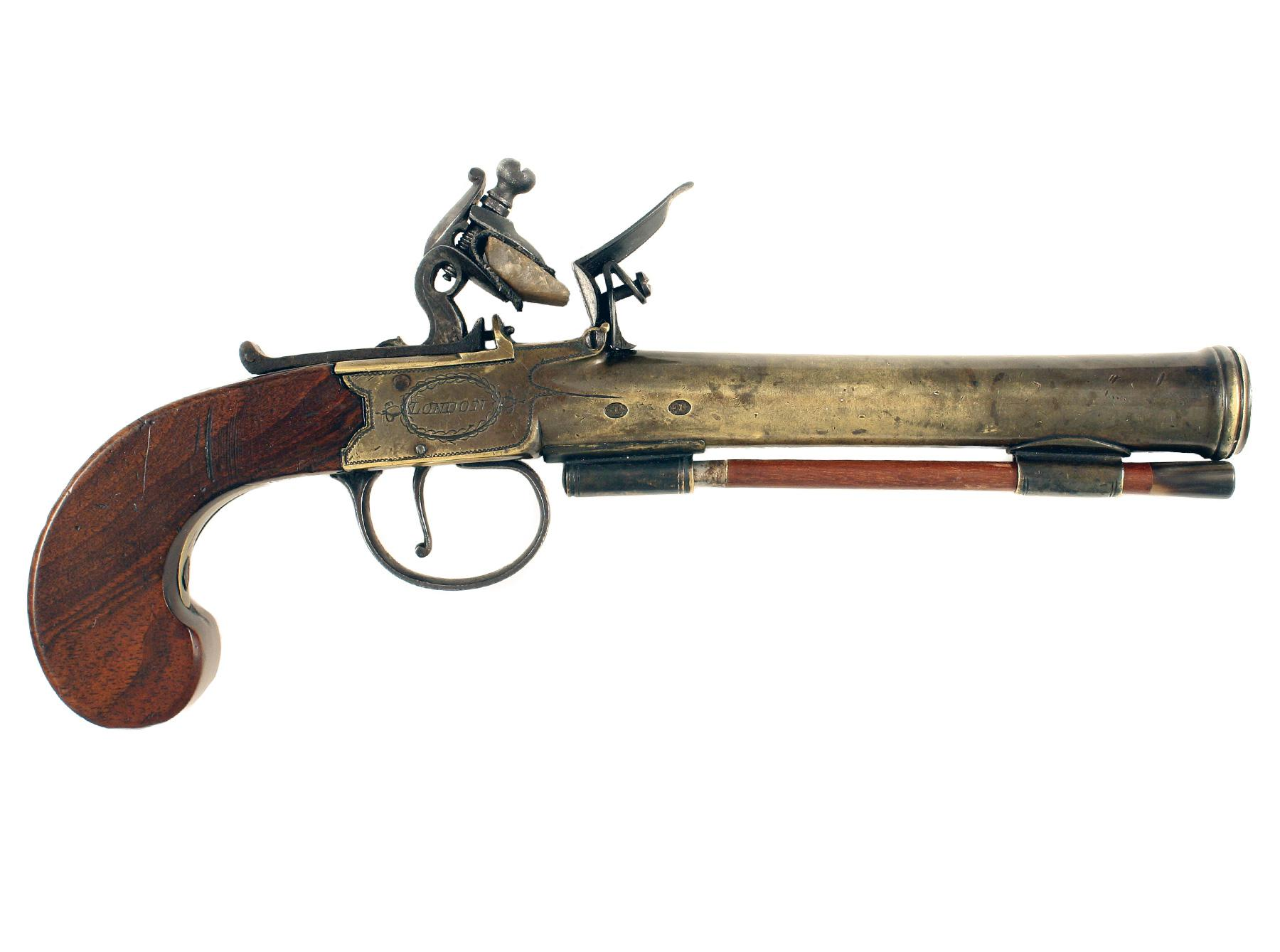 A Flintlock Blunderbuss Pistol by P. Bond