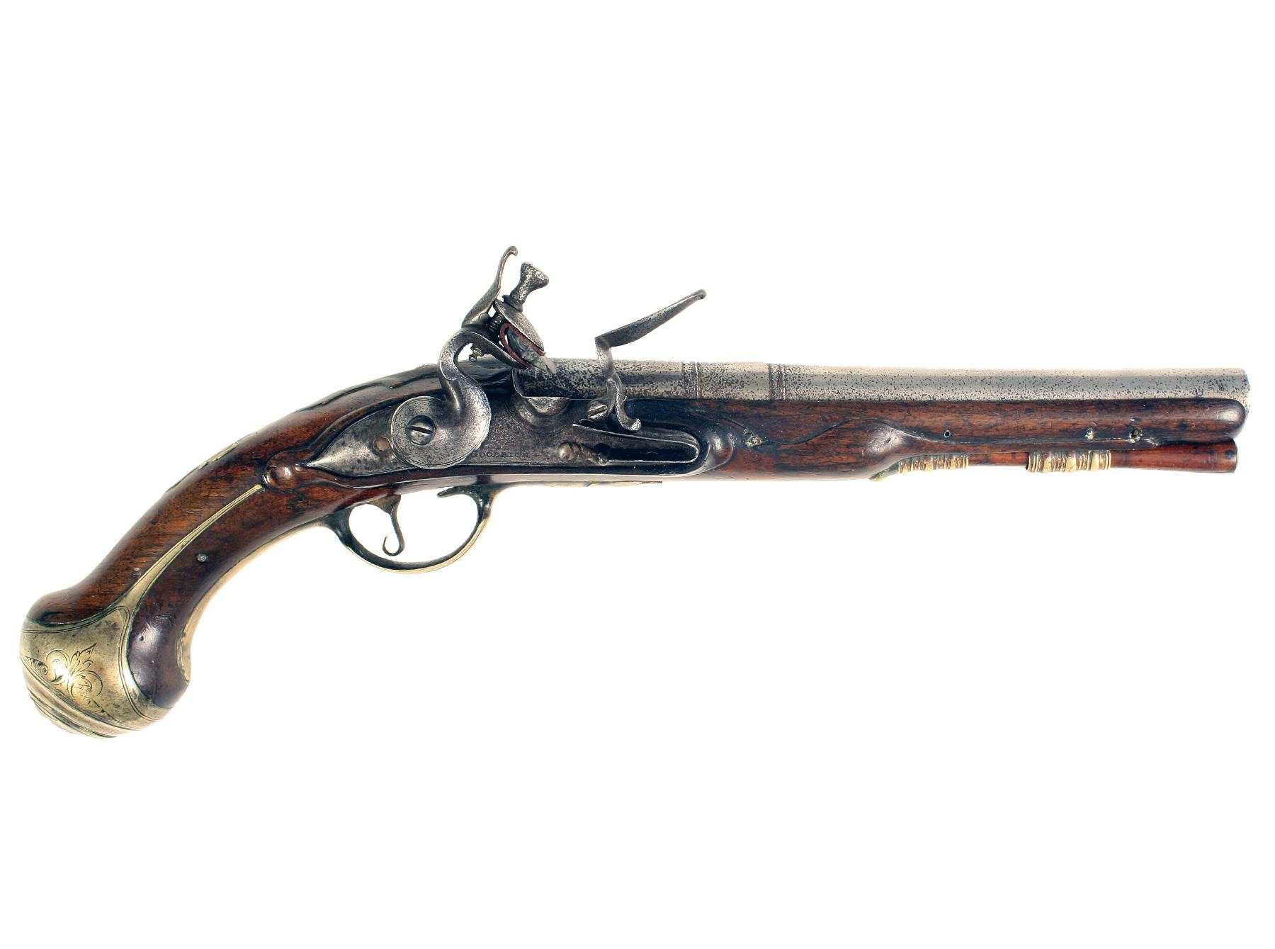 A Flintlock Holster Pistol by Goodridge