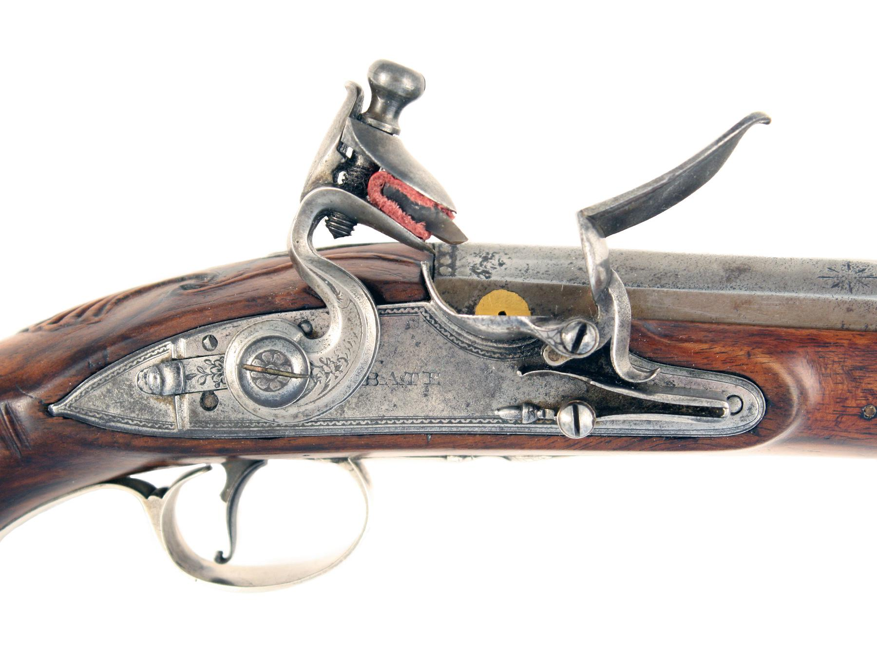 A Silver Mounted Pistol by Bate, London.
