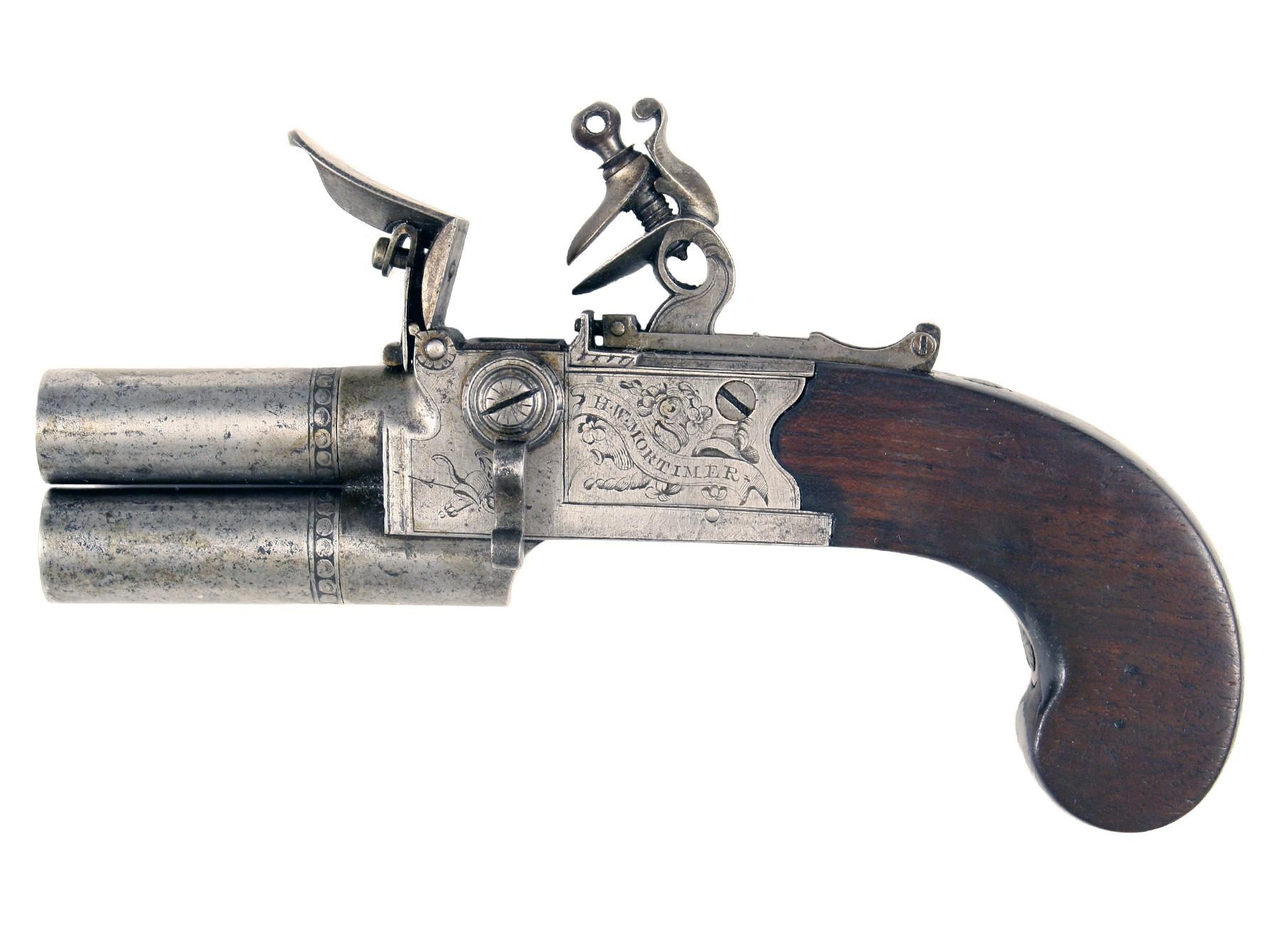 A Flintlock Tap-Action Pistol by H. W. Mortimer