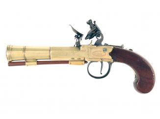 A Flintlock Blunderbuss Pocket Pistol by Carr