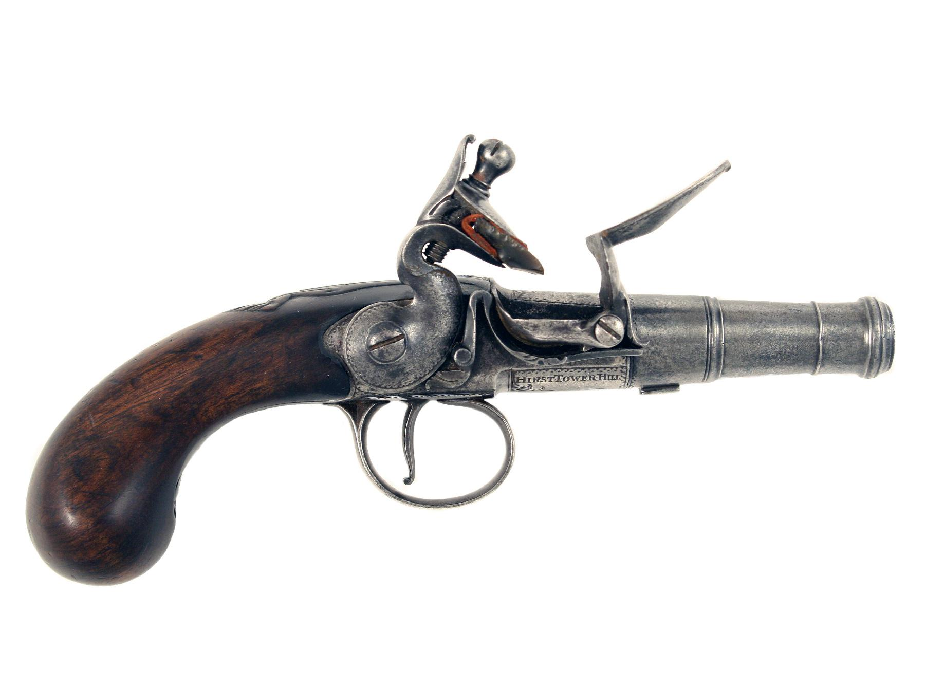 A Queen Anne Pocket Pistol by Hirst.