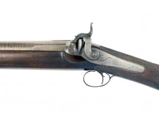 A 6-Bore Percussion Left-Handed Shotgun by Alden & Smith