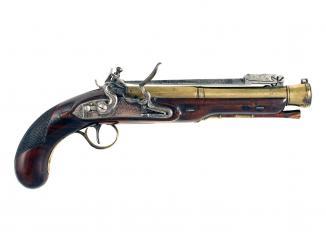A Flintlock Blunderbuss Pistol by Wilson of London