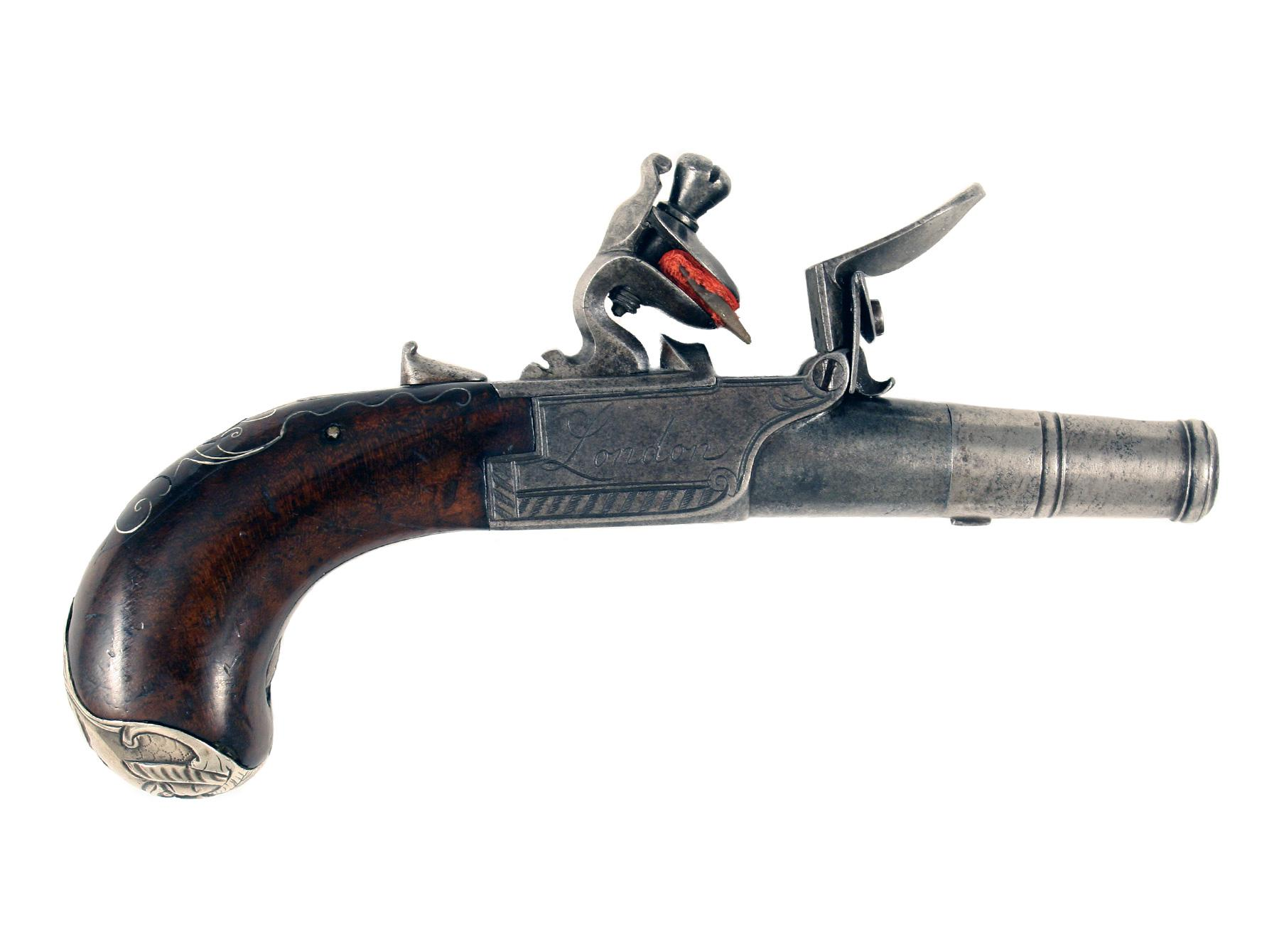 A Pair of Flintlock Pocket Pistols