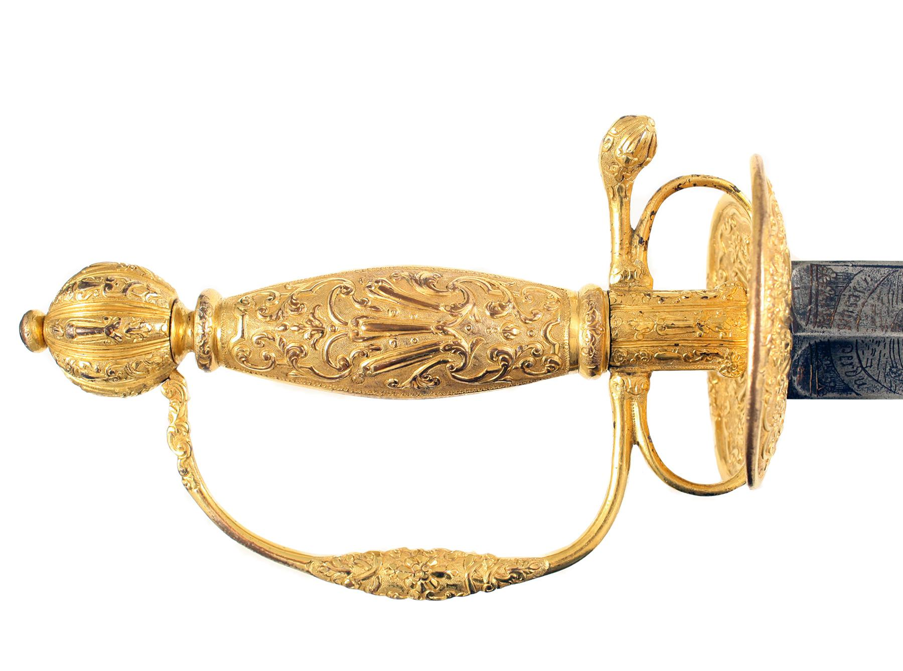 A Fine Gilt Smallsword