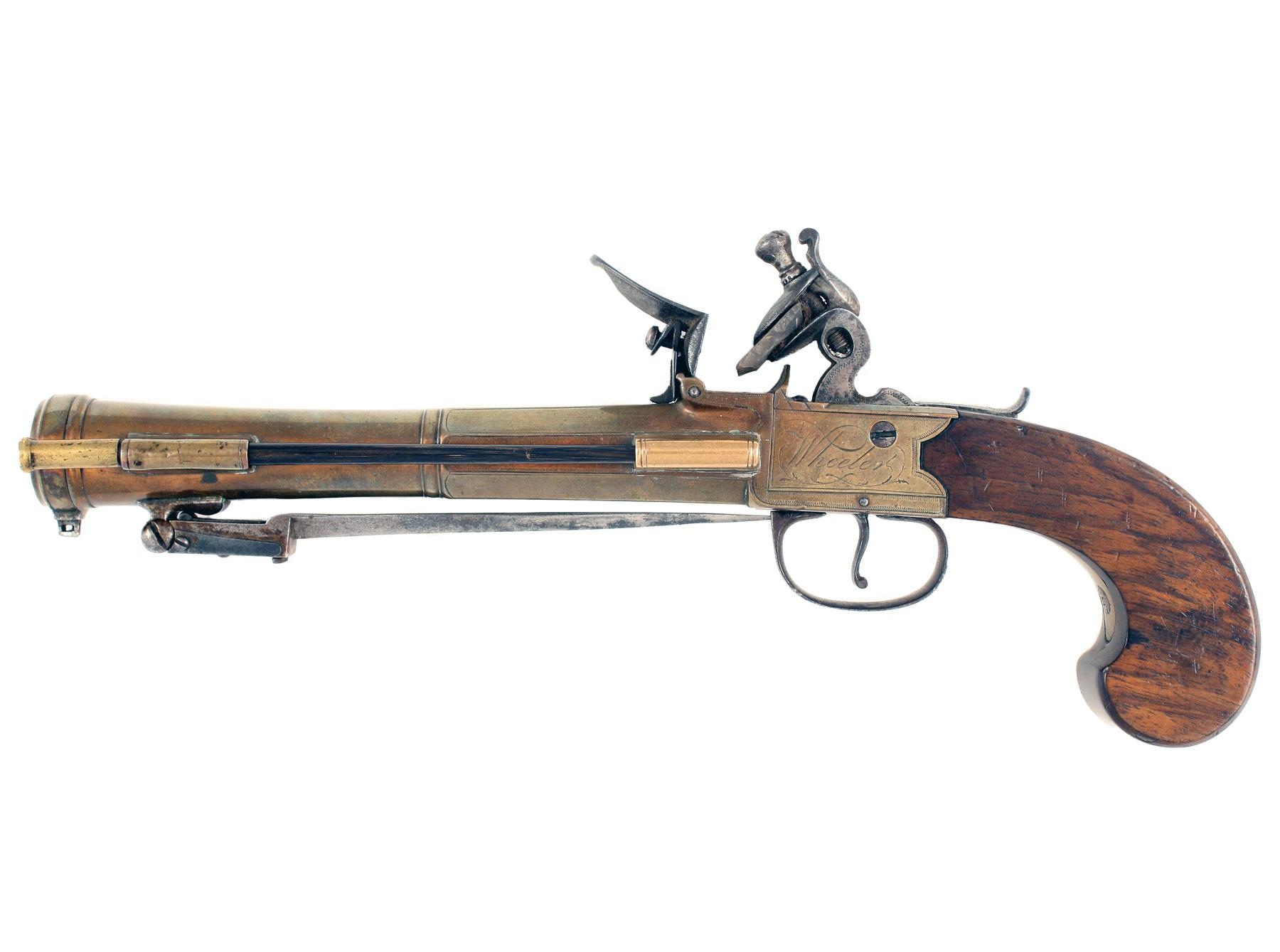 A Bronze Barrelled Flintlock Blunderbuss Pistol