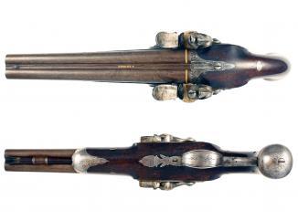 A Double Barrel Carriage Pistol by Probin
