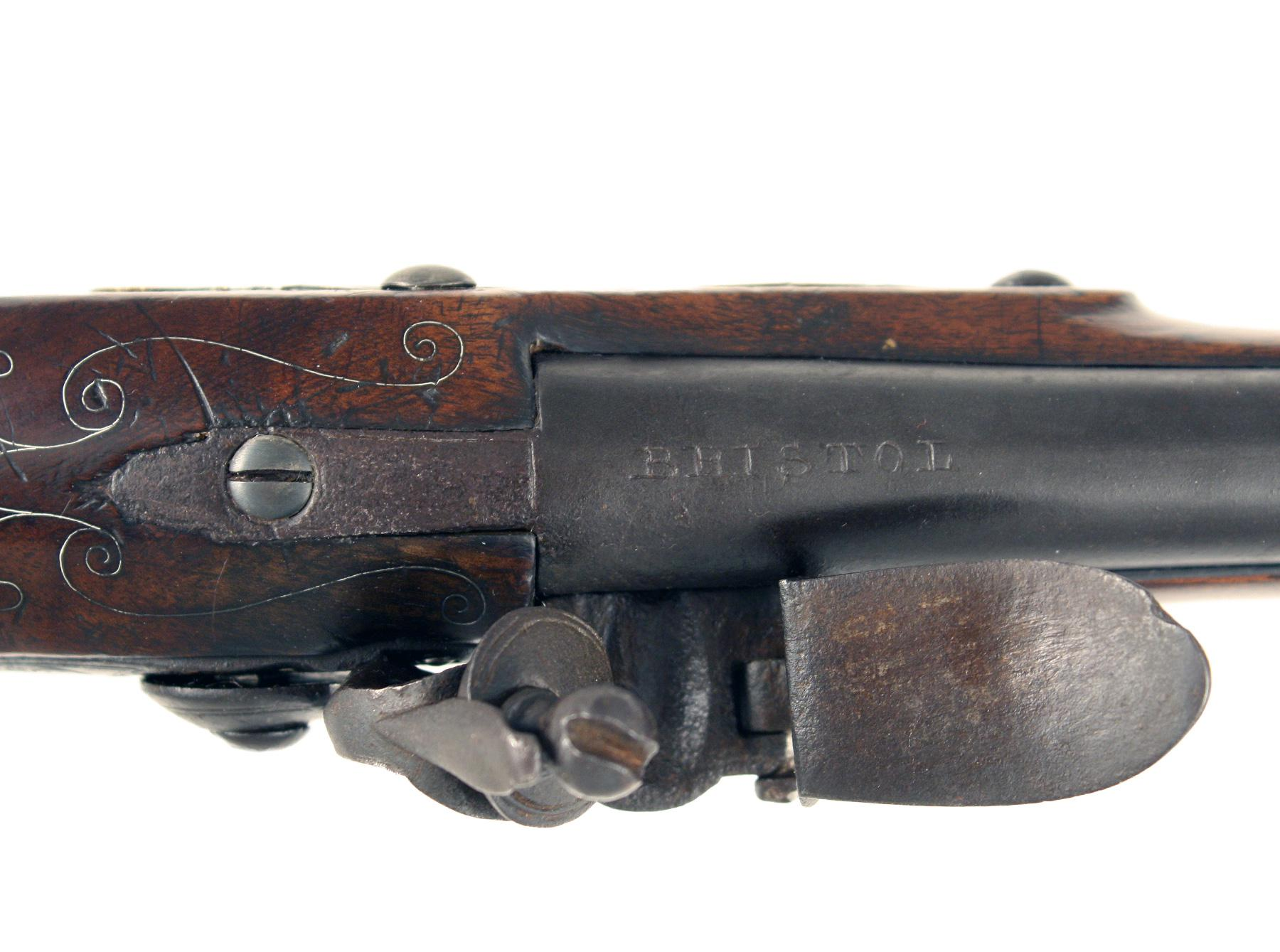 An Early Flintlock Blunderbuss Pistol