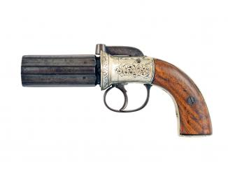 A Cased Percussion Pepperbox