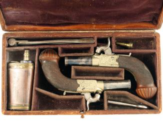 A Cased Pair of Percussion Pistols