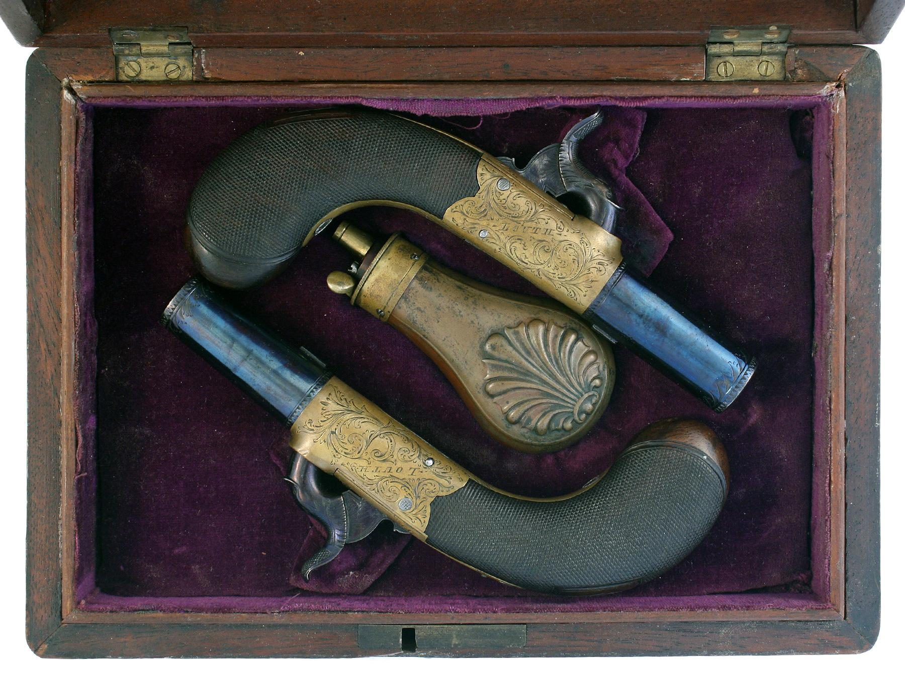 A Crisp Pair of Rifled Percussion Pistols