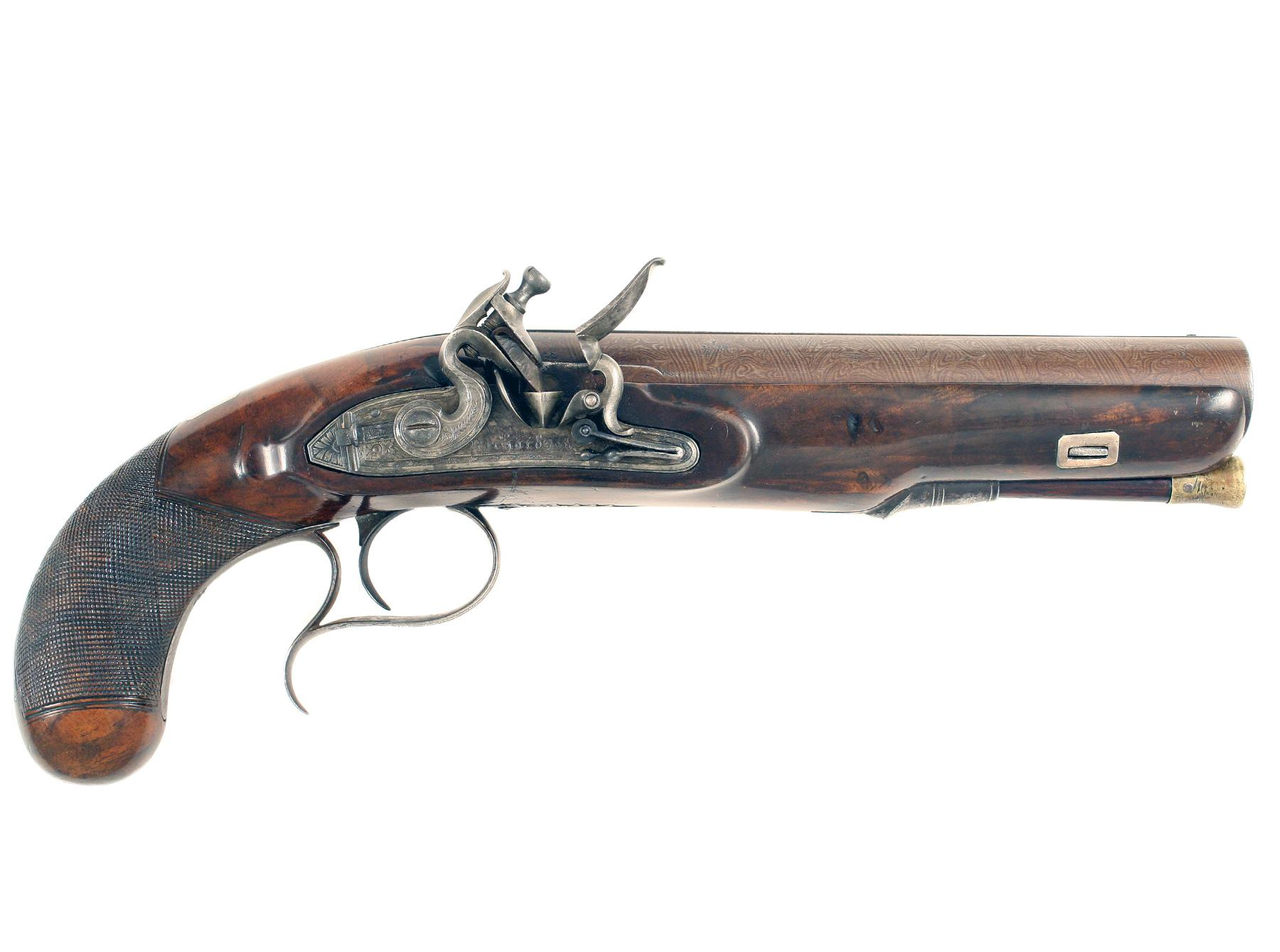 A Large Bore Flintlock Officers Pistol