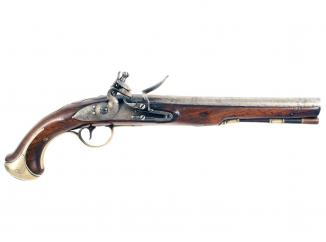 A Rare Flintlock Officers Pistol for the Rossie Militia