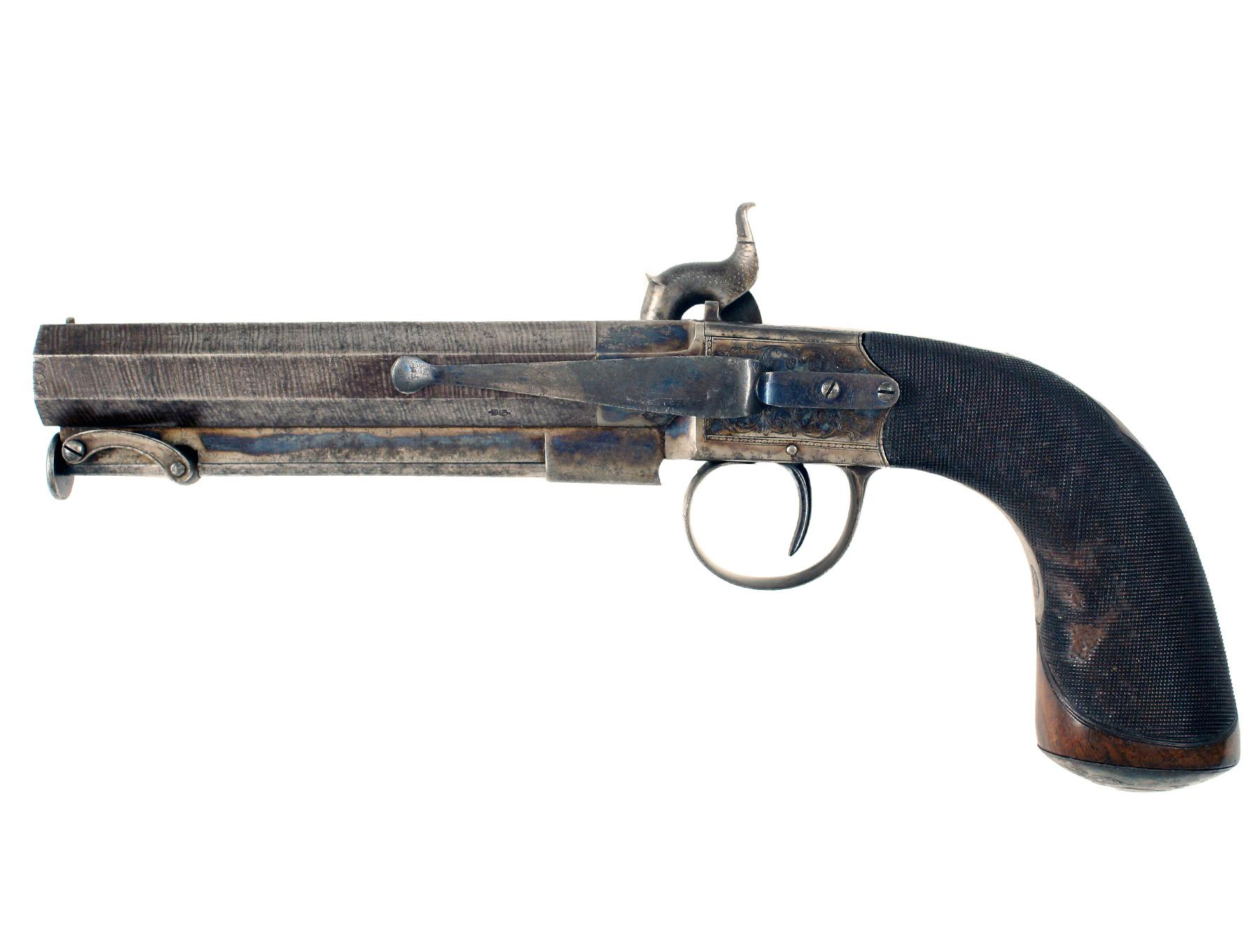 A Large Percussion Belt Pistol by Baker of London