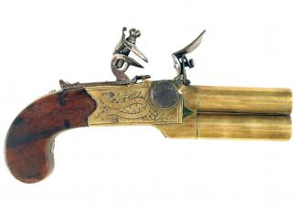 A Pair of Flintlock Pistols by H.W. Mortimer