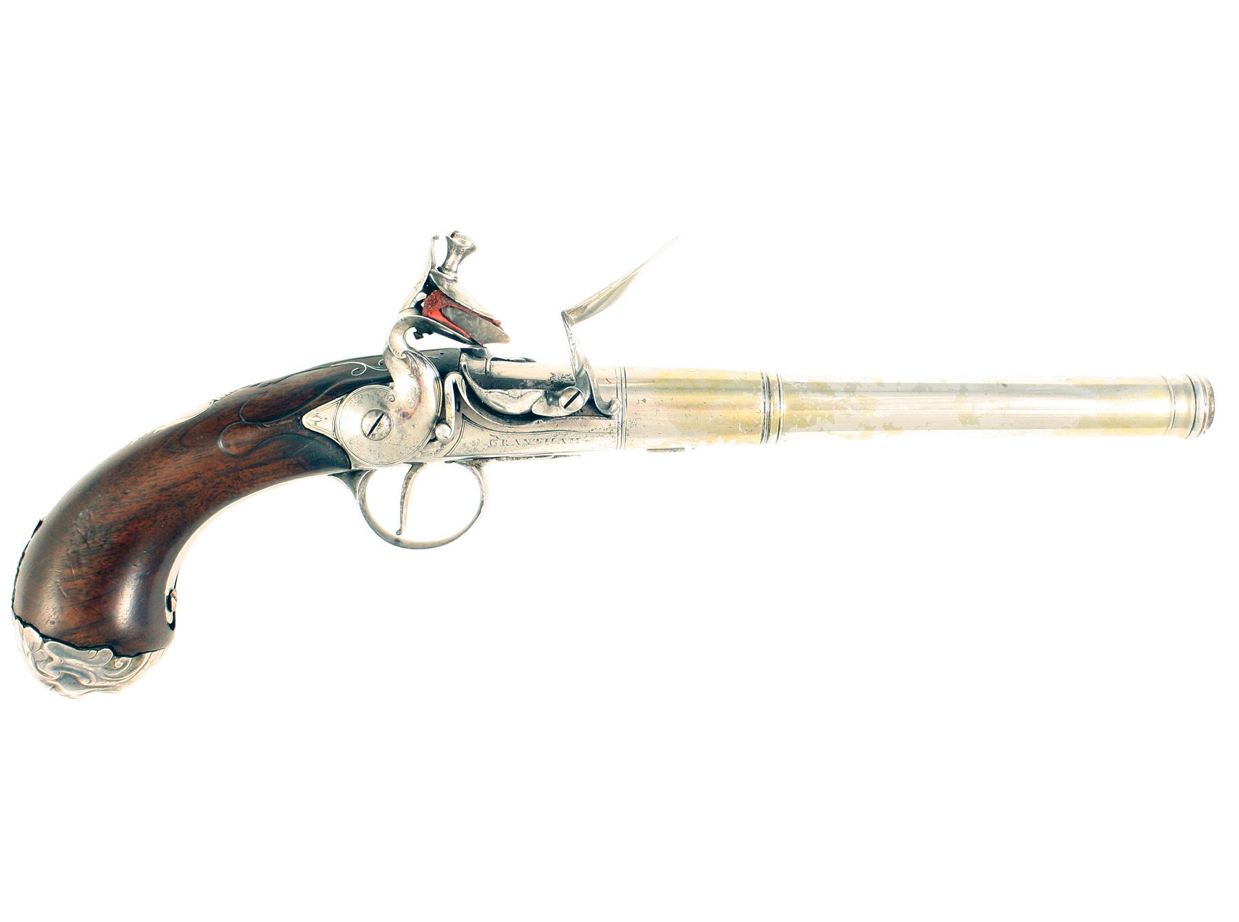 A Queen Anne Pistol by Newton of Grantham