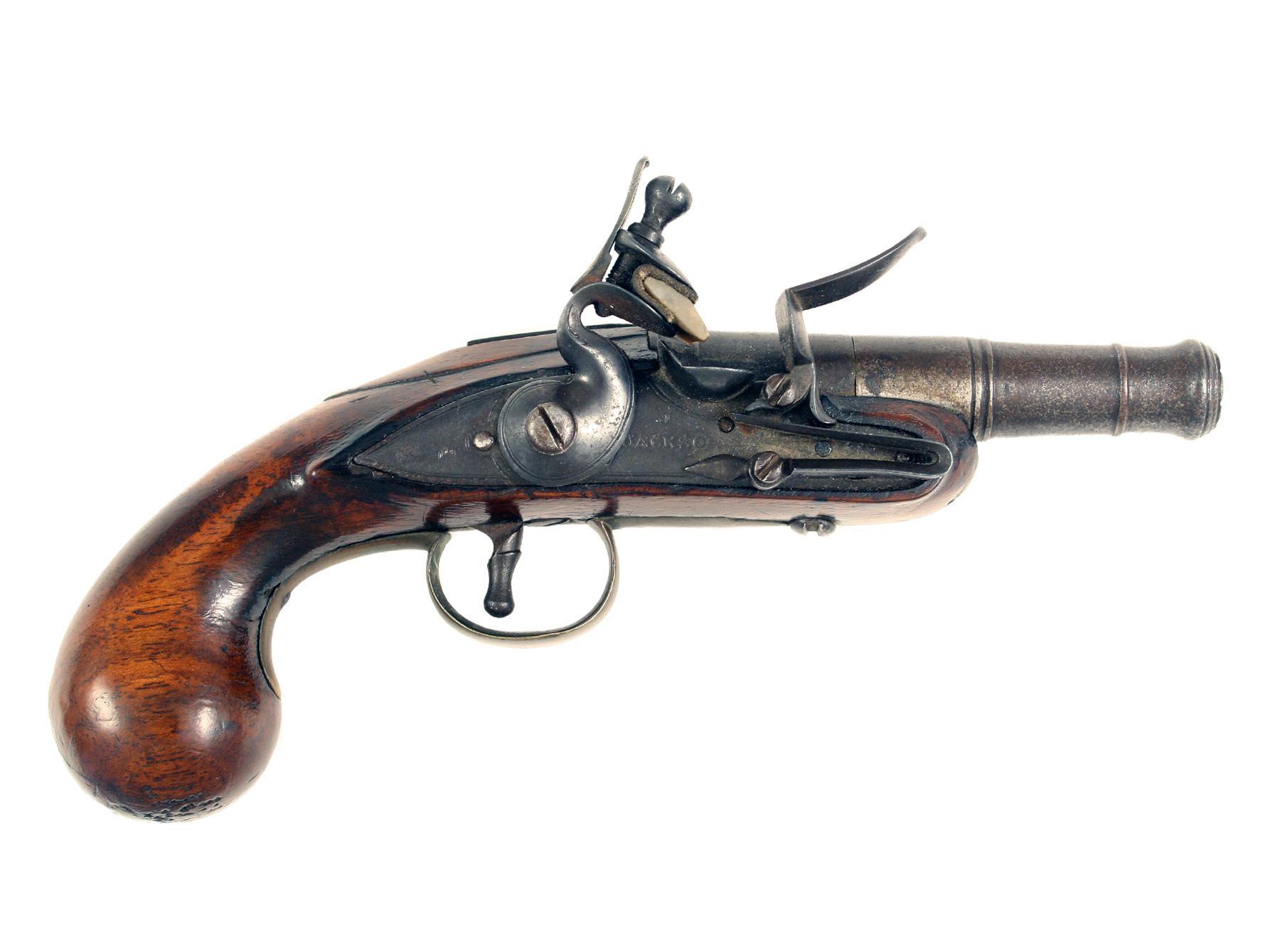 An Early Flintlock Pocket Pistol by J. Jackson.