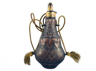 A Large Powder Flask by G. & J.W. Hawksley