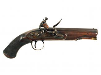 A Pair of Flintlock Overcoat Pistols by Twigg.
