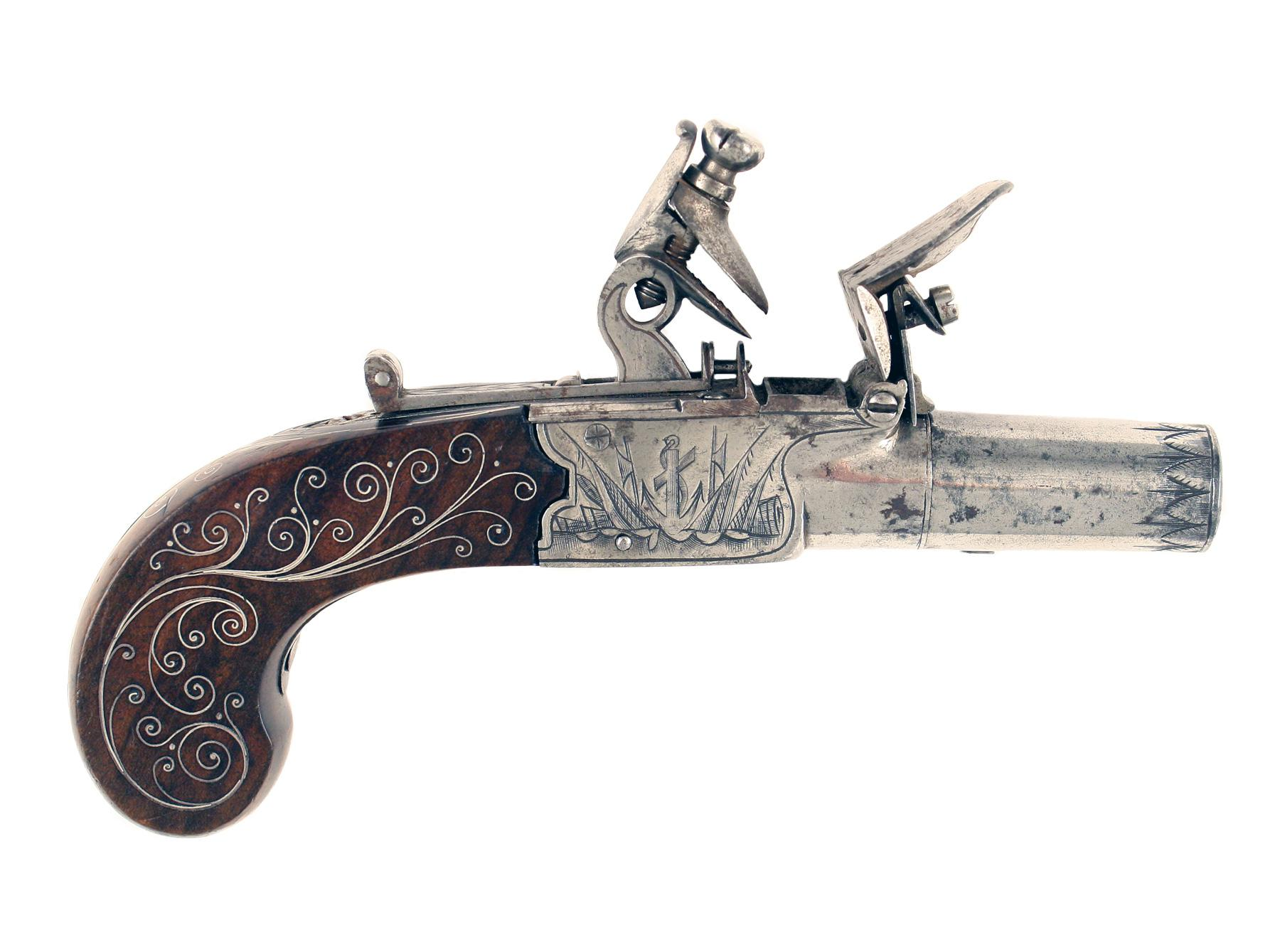 A Pair of Naval Flintlock Pocket Pistols