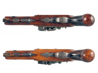 A Crisp Cased Pair of Pistols by Richards