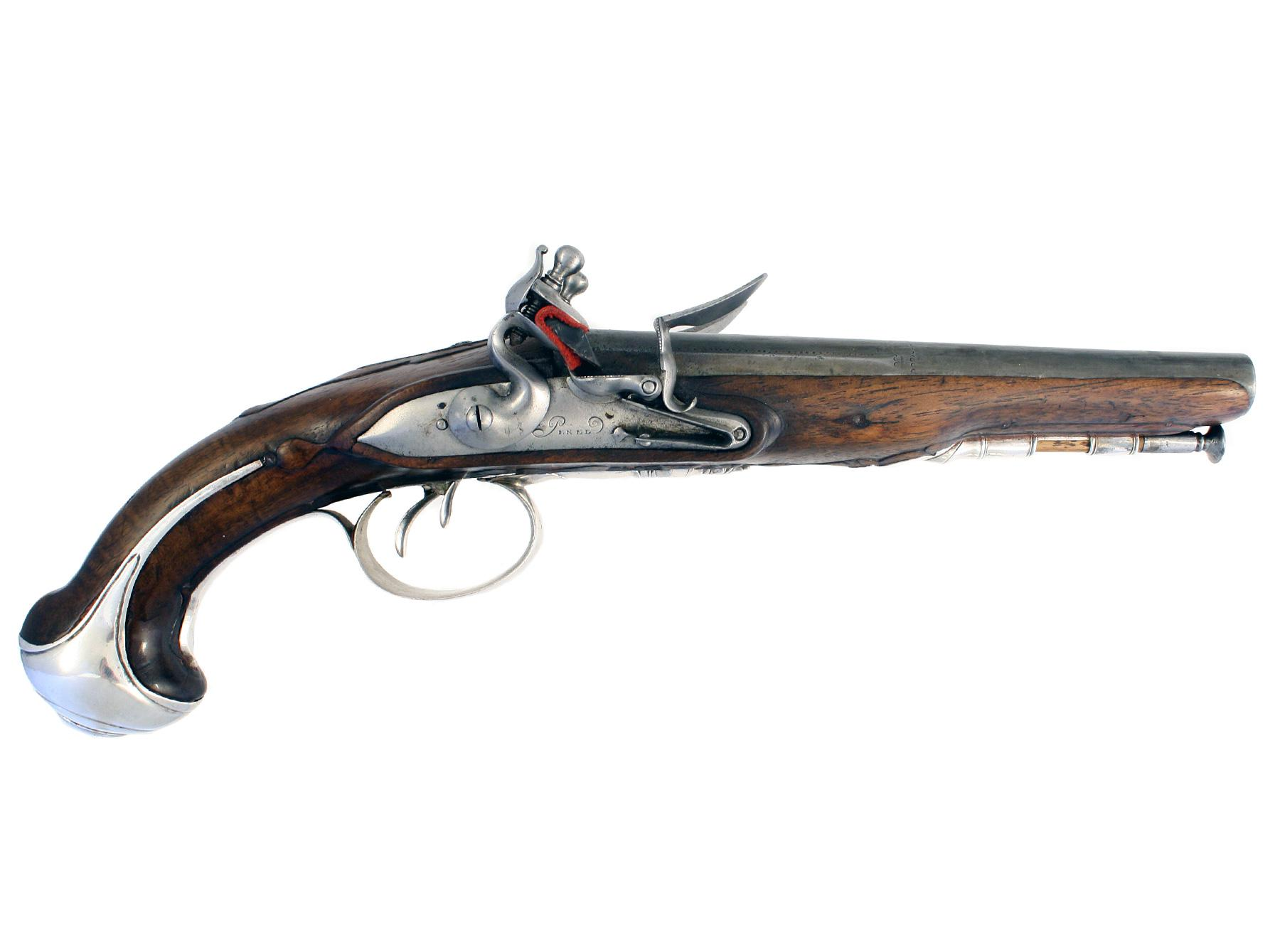 A French Double Barrelled Pistol