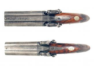 A Pair Irish D.B. Pistols