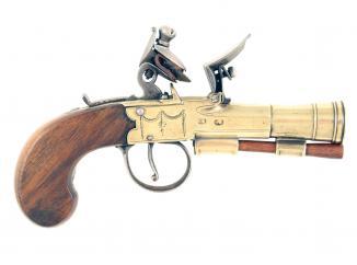 A Flintlock Blunderbuss Pocket Pistol